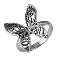 Посеребрённые кольца